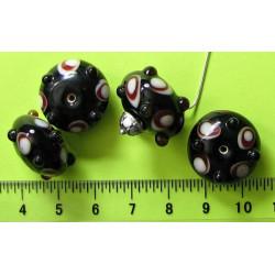 Černá výstupková kulička D420, cena za 1ks