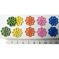 Dřevěné květinky 19x3mm, 10ks