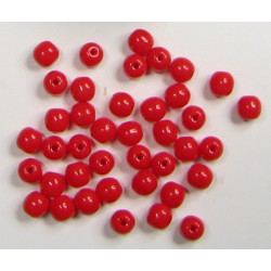 Kulička 4mm, červená, cena za 40ks