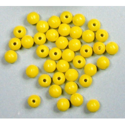 Kulička 4mm, žlutá tmavá, cena za 40ks