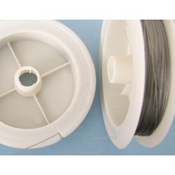 Bižutérní lanko, 0,45mm, šedé(PLATINA), 50m
