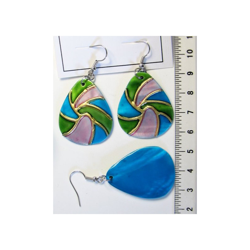 Náušnice - malovaná perleť