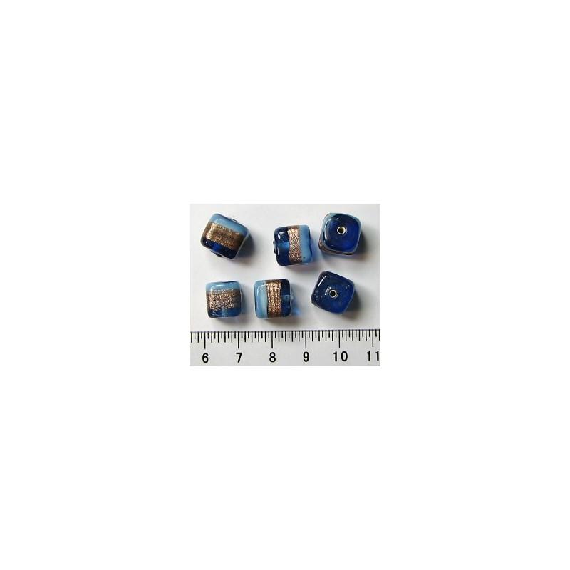 Kostka modro-modro-zlatá