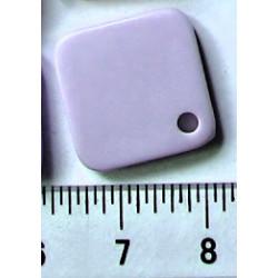 Čtverec 15x15mm, fialový/10ks/