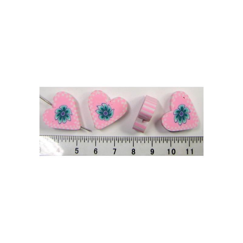Srdíčko - růžové, cena za 4ks
