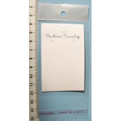 Papírová karta na náušnice 8x5cm, cena za 10ks