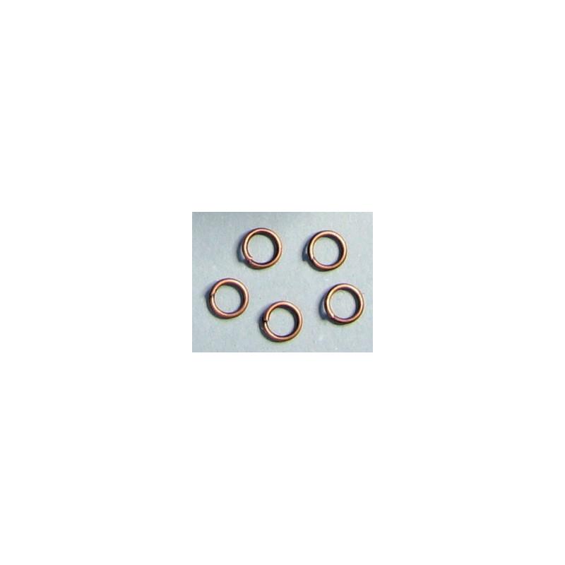 Spojovací kroužek, barva měděná, 5mm, cena za 100ks