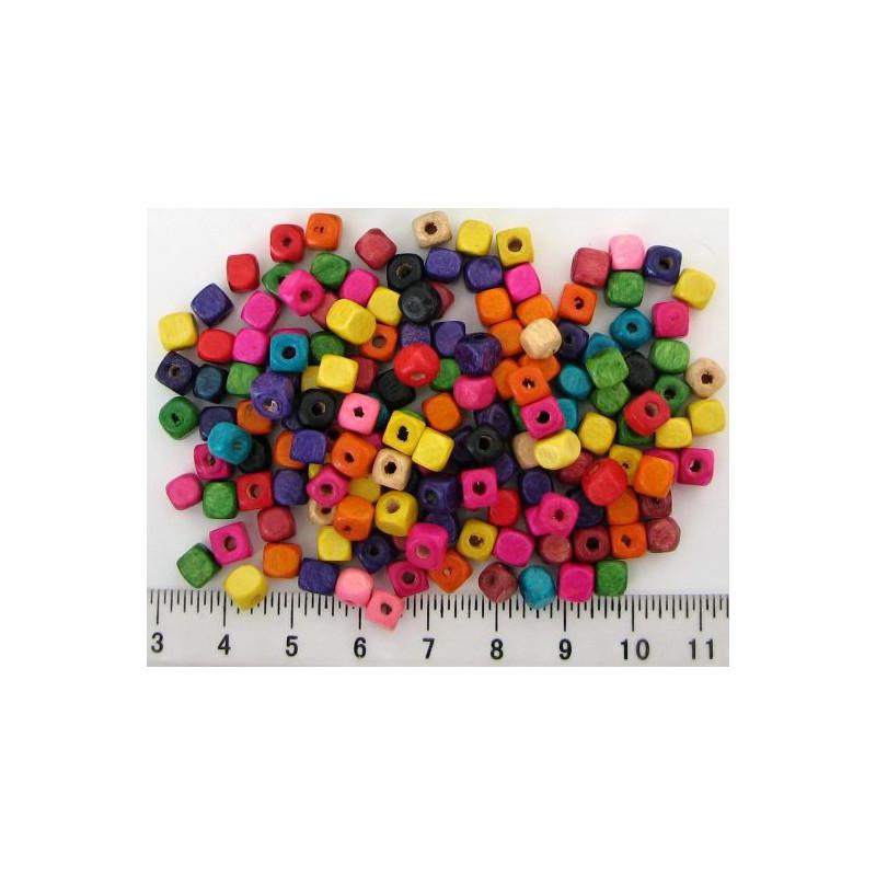 Kostky 5mm, barevná směs, 10gramů, asi 150ks