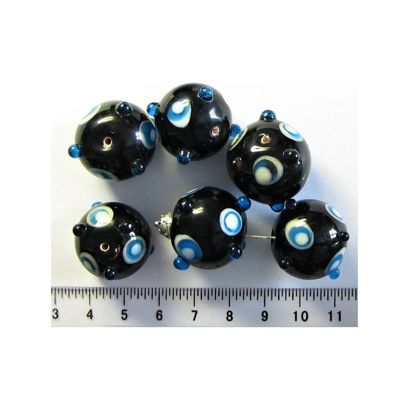 Černá kulička 20mm s výstupky,cena za 1ks