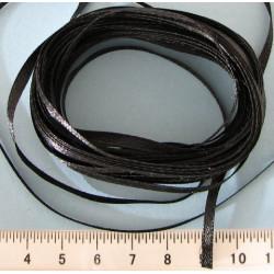 Atlasová stuha 3mm, černá, balení 10m