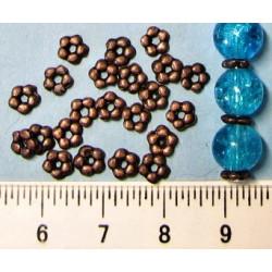 Korálek 5mm, barva staroměděná, cena za 40ks