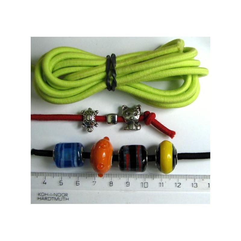 Guma kulatá 4mm, zelená, cena za 1m