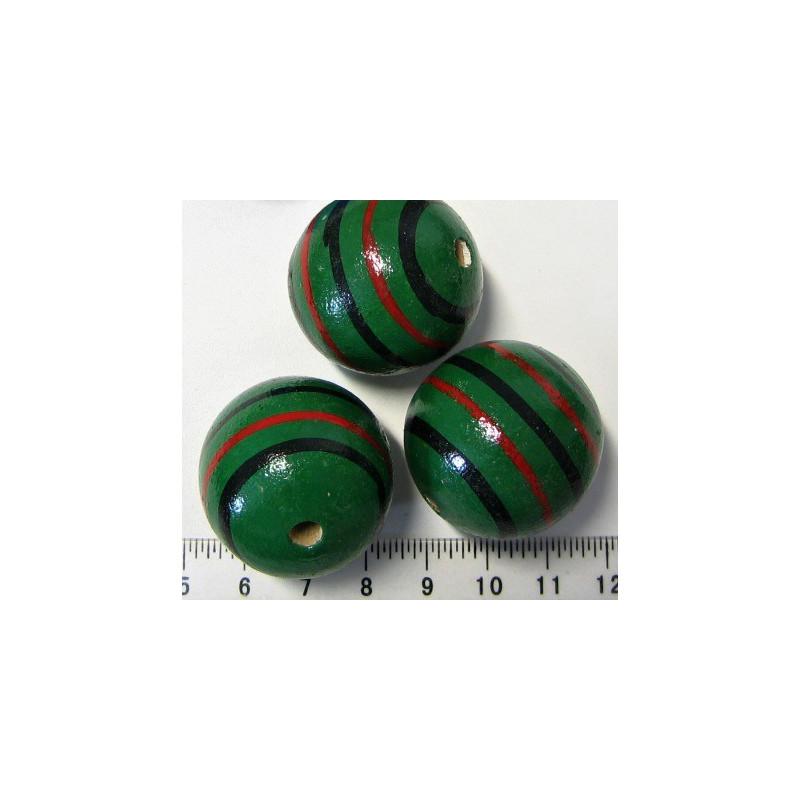 Dřevěná zelená kulička