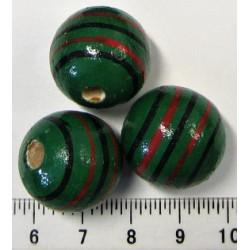Dřevěná zelená kulička  3cm