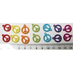 Hippies znak, 7 barev x 2ks, cena za 14ks