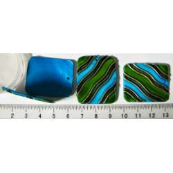 Perleťový přívěsek - 28x33mm, zeleno-modrý