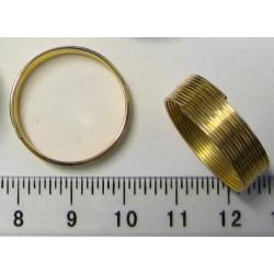 Paměťový drát 2,2cm, barva zlatá, balení 10 otoček