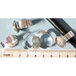 Prstýnkový základ, 15mm, barva stříbrná