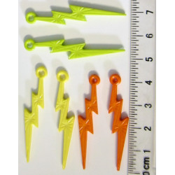 Blesky, 45mm, balení 6ks (3x2ks žlutá, oranžová, zelená)