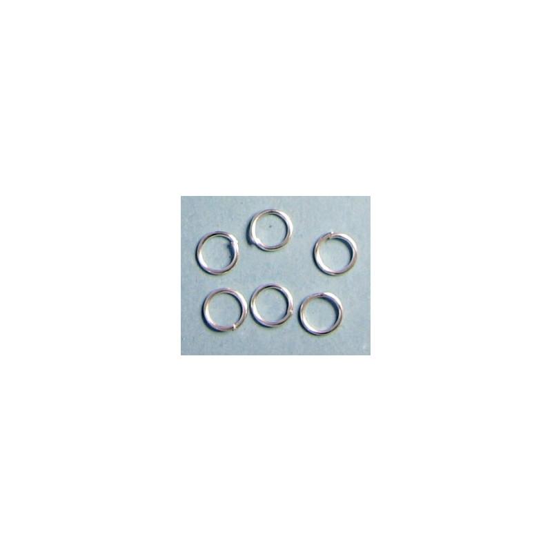 Spojovací kroužek, stříbrná barva, 6mm, cena za 100ks