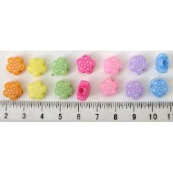 Květinky, díra 2mm, 7barev x 2ks, cena za 14ks