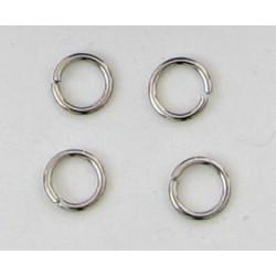Spojovací kroužek, barva platina, 5mm, cena za 100ks