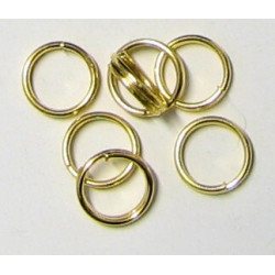 Spojovací kroužek, barva zlatá, 6mm, cena za 100ks
