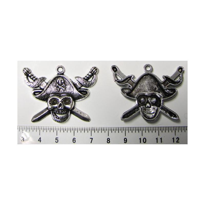 Kovový pirát - lebka, 43